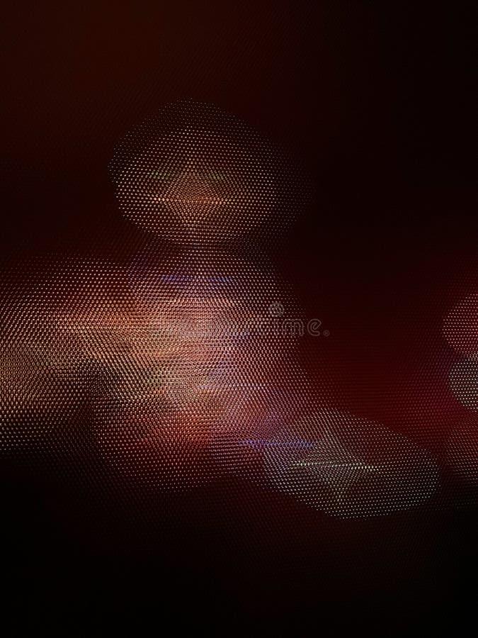 Luzes da festão através do vidro do relevo no fundo preto fotografia de stock