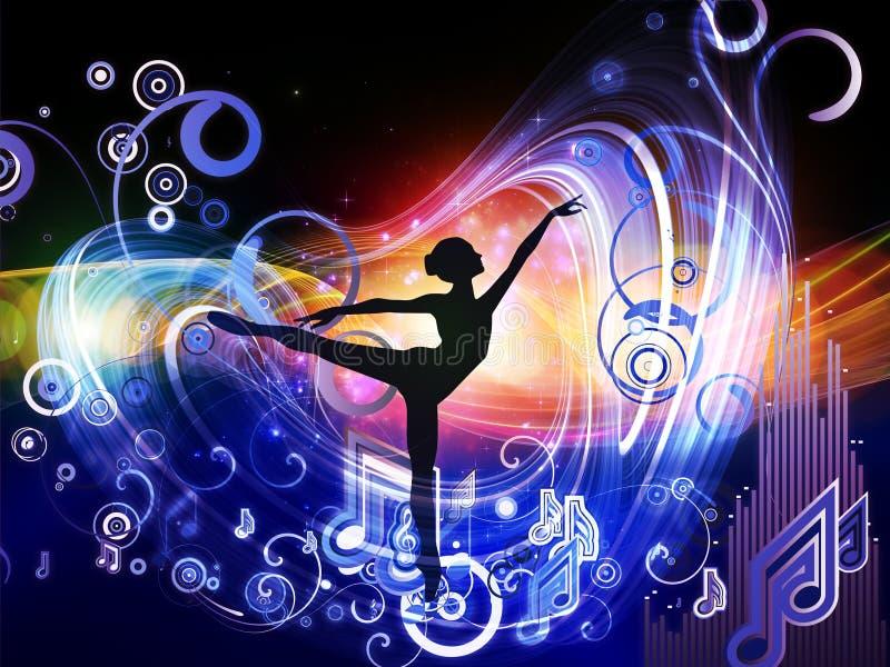 Luzes da música ilustração royalty free