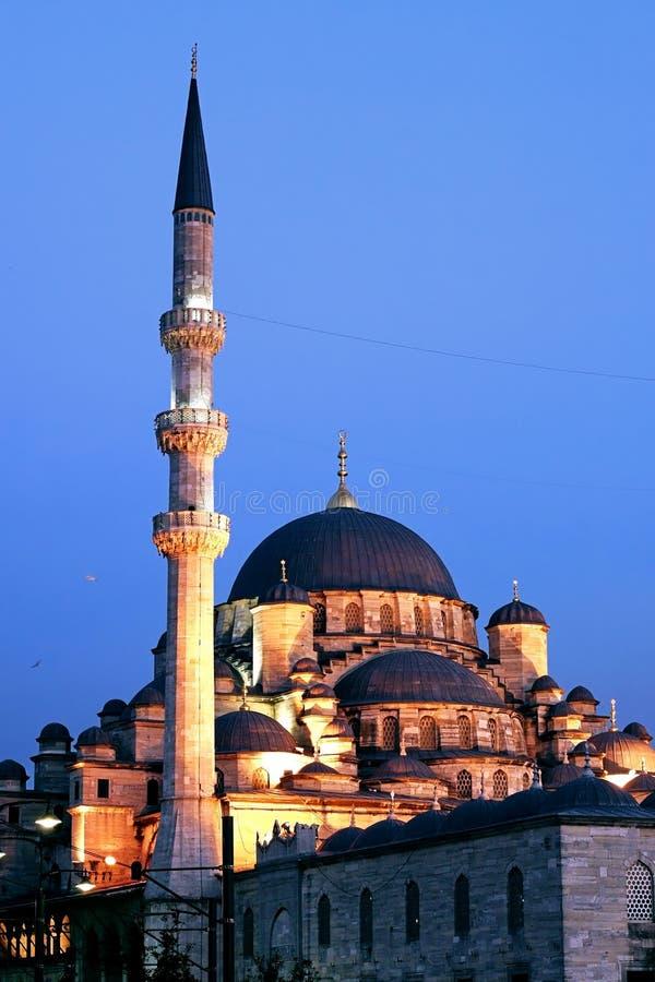 Luzes da mesquita da sultão de Valide sobre fotos de stock royalty free