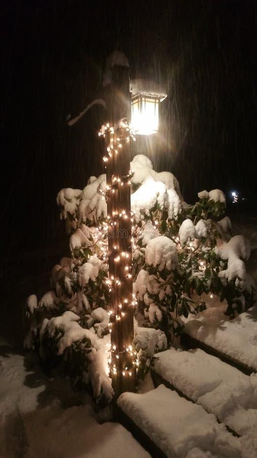 Luzes da neve imagens de stock