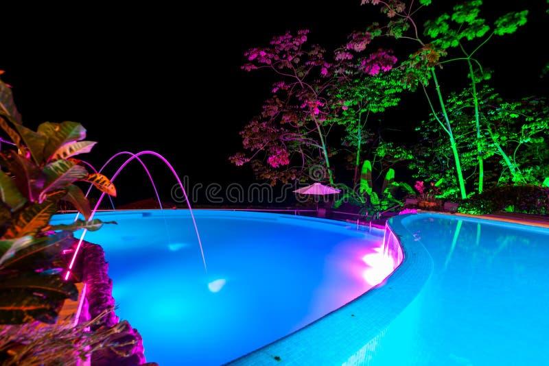 Luzes da noite na associação imagem de stock royalty free