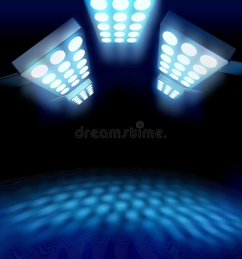Luzes da premier do estilo do estádio ilustração stock