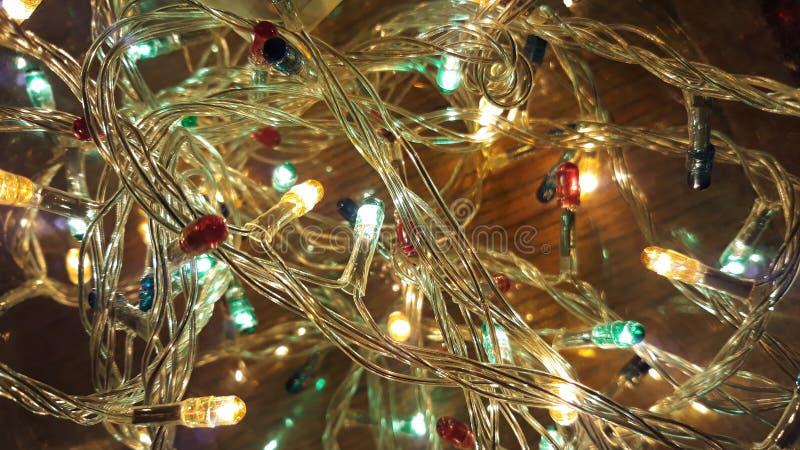 Luzes de Christmass imagens de stock