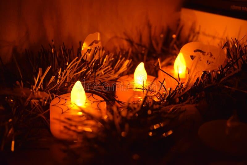 Luzes de Dia das Bruxas imagens de stock