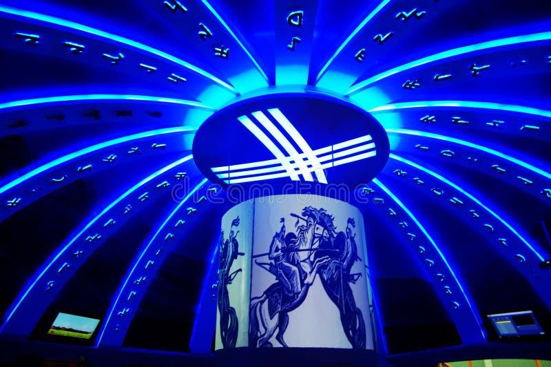 Luzes de giro de Kyrgyz Republic em Expo2010 imagem de stock