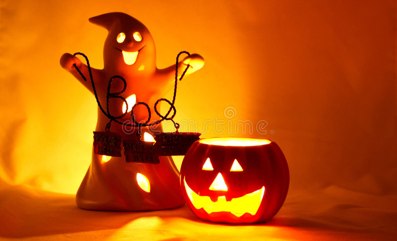 Luzes de Halloween imagem de stock