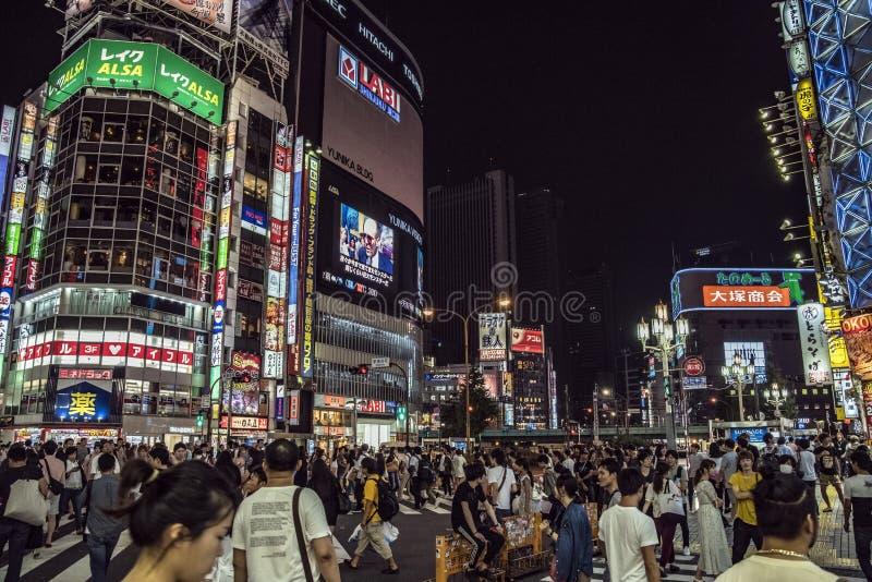 Luzes de Kabukicho, Tóquio, Japão imagens de stock royalty free