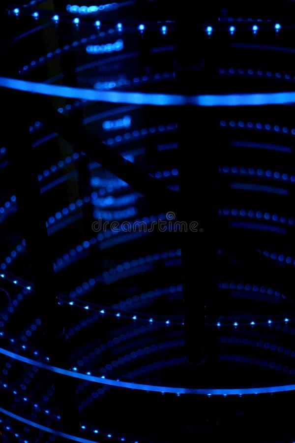 Download Luzes de néon azuis foto de stock. Imagem de cidade, rápido - 542948