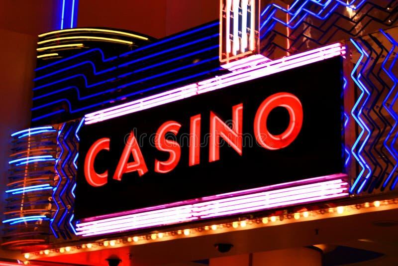 Luzes de néon do casino imagem de stock