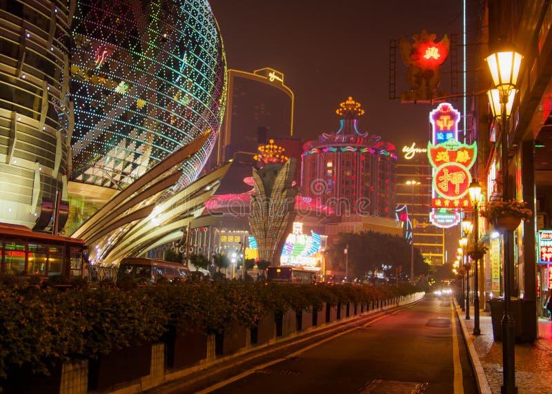 Luzes de néon de Macau fotos de stock royalty free