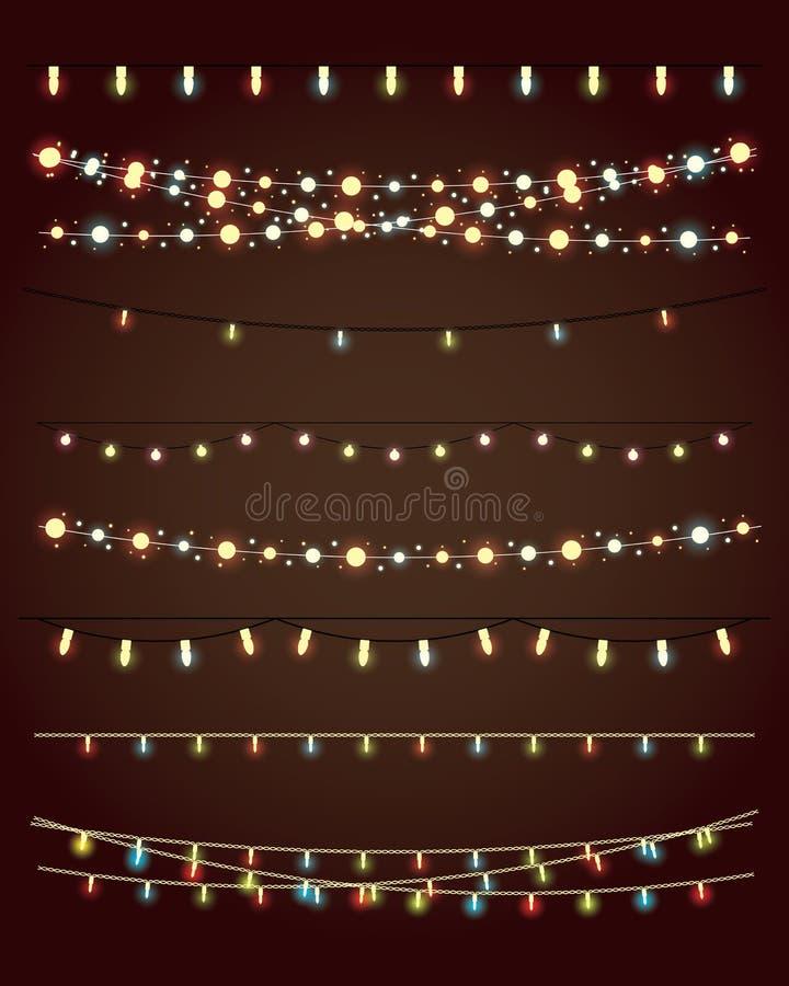 Luzes de Natal ilustração royalty free
