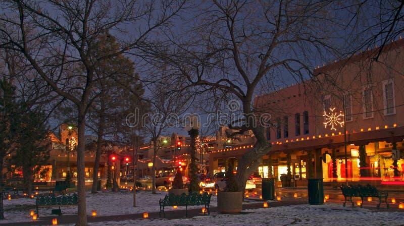 Luzes de Natal imagens de stock