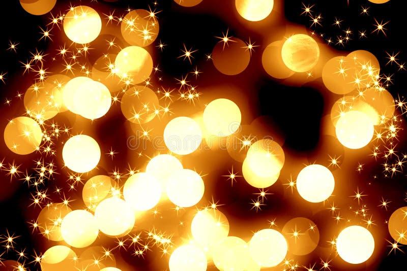 Luzes de Natal borradas ilustração royalty free