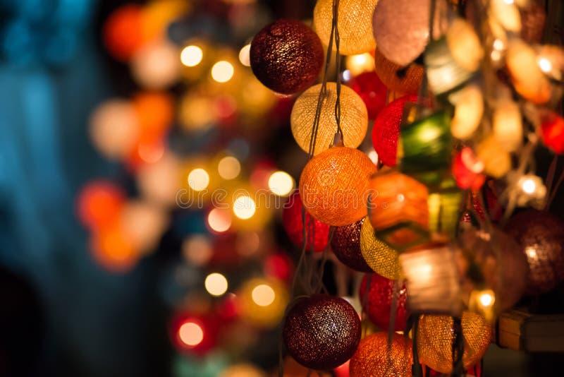 Luzes de Natal de incandescência coloridas fotos de stock royalty free