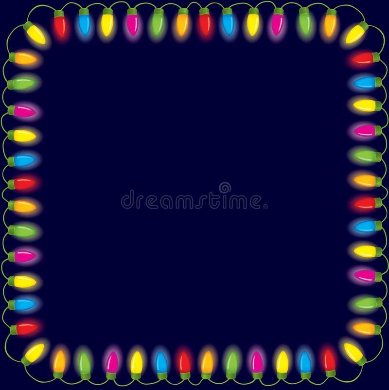 Luzes de Natal festivas ilustração royalty free