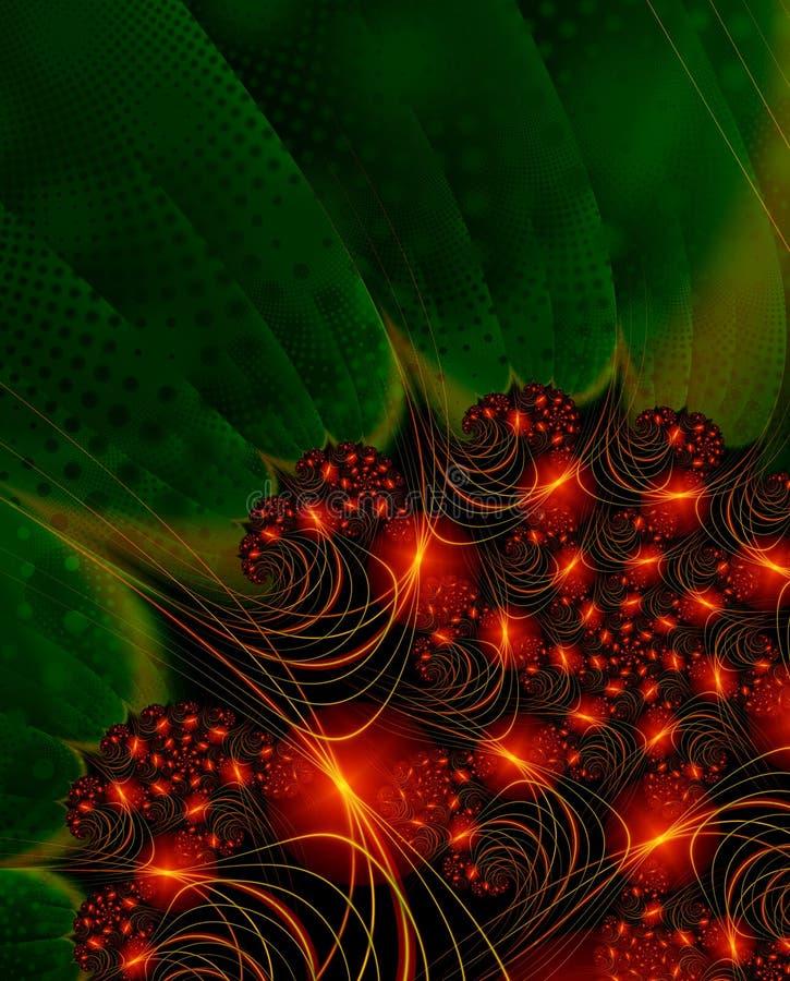 Luzes de Natal - imagem do fractal ilustração royalty free