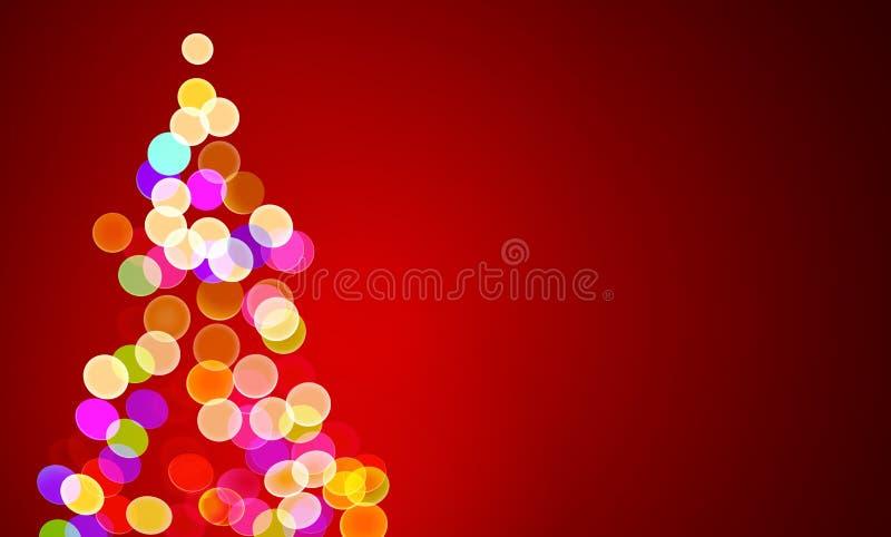 Luzes de Natal na árvore, fora de foco ilustração stock
