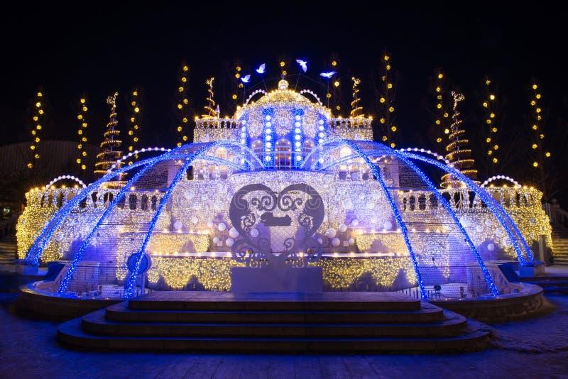 Luzes de Natal no everland fotografia de stock royalty free
