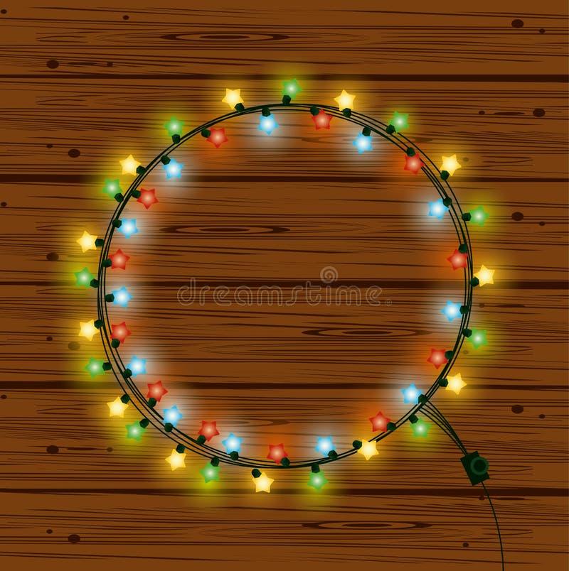 Luzes de Natal para a decoração ilustração stock