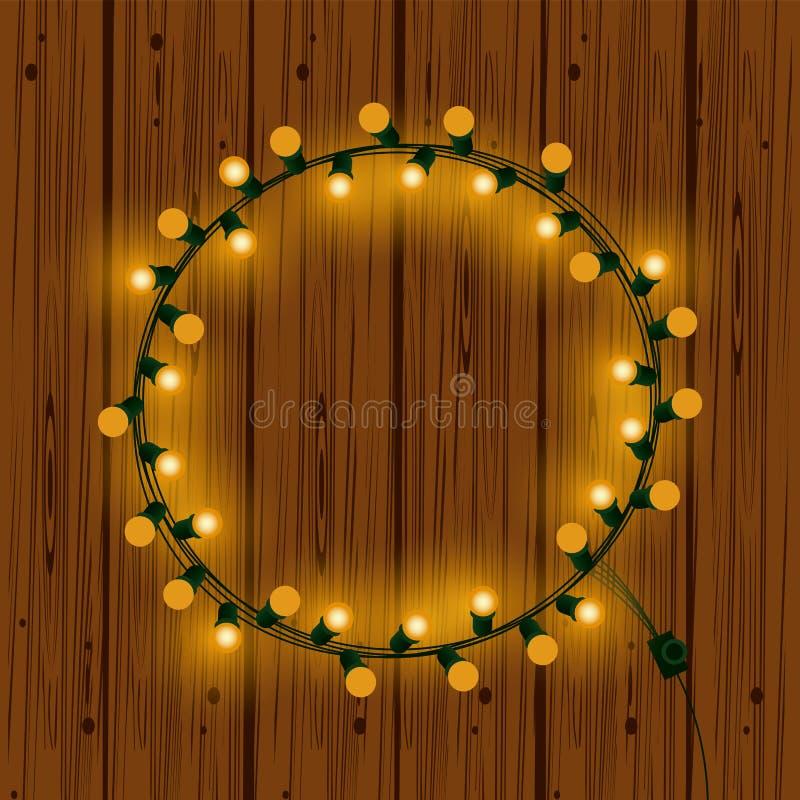 Luzes de Natal para a decoração ilustração royalty free