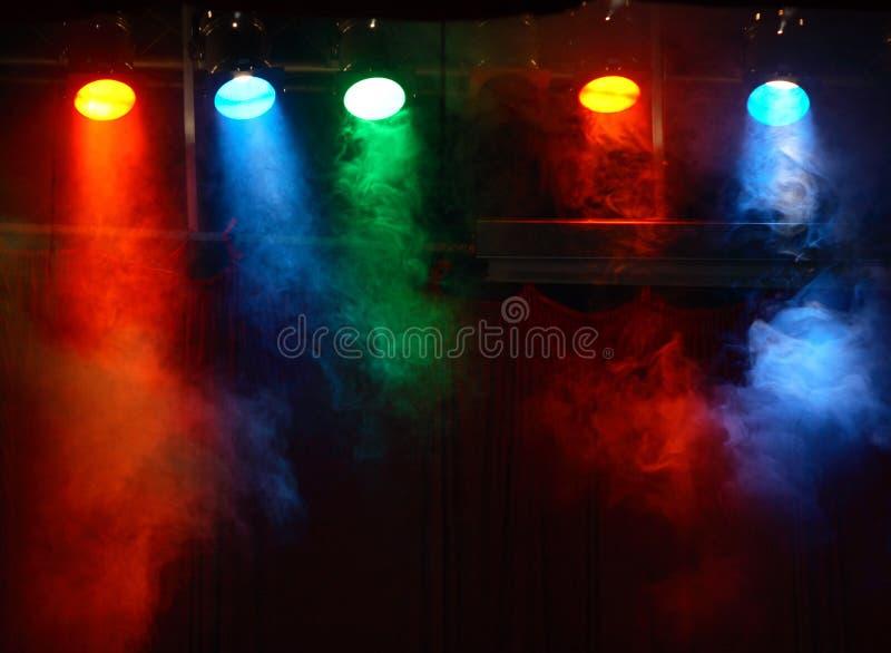 Luzes de teatro foto de stock
