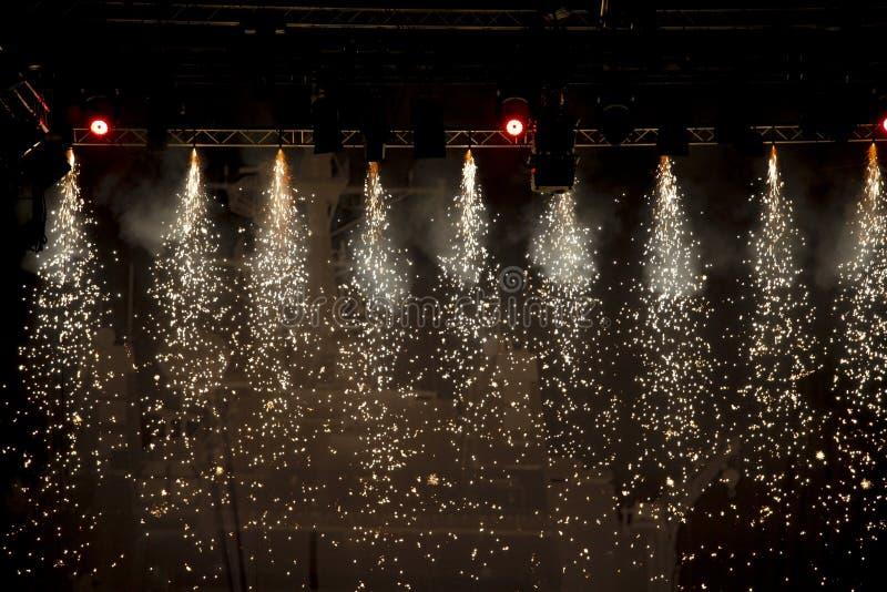 Luzes de teatro Sparkling fotos de stock royalty free