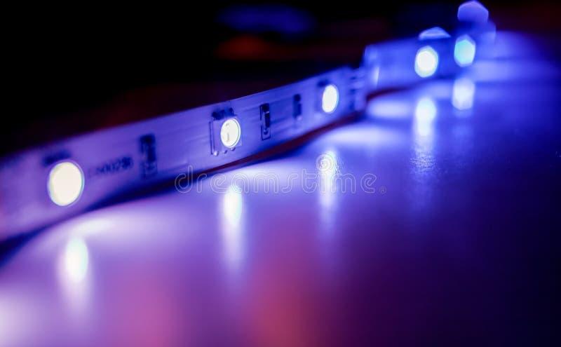 Luzes de tira conduzidas imagem de stock