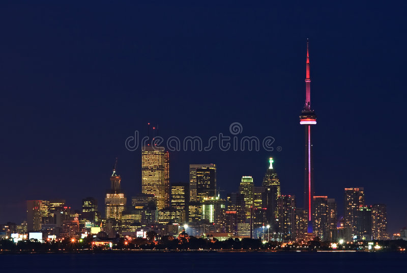 Luzes de Toronto no crepúsculo fotos de stock royalty free