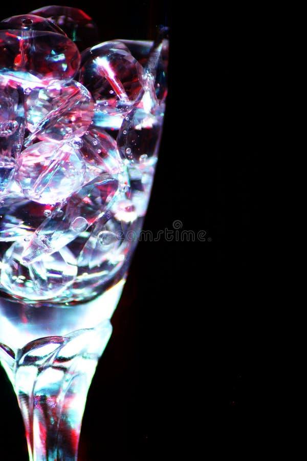 Luzes de vidro da água imagens de stock
