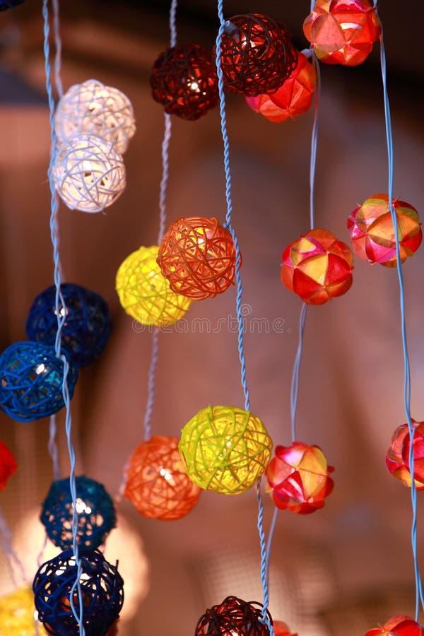Luzes decorativas foto de stock