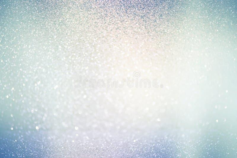 Luzes defocused abstratas, fundo efervescente do bokeh do feriado imagem de stock
