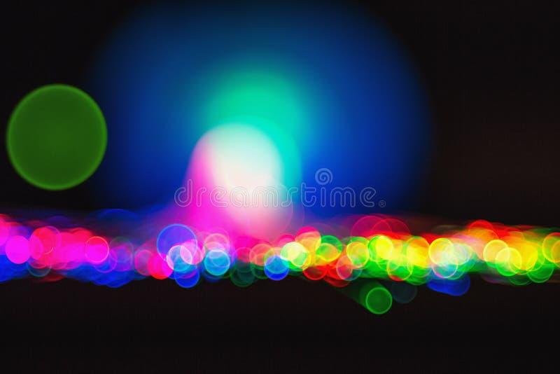 Luzes Defocused do bokeh: close-up ótico da fibra ilustração royalty free