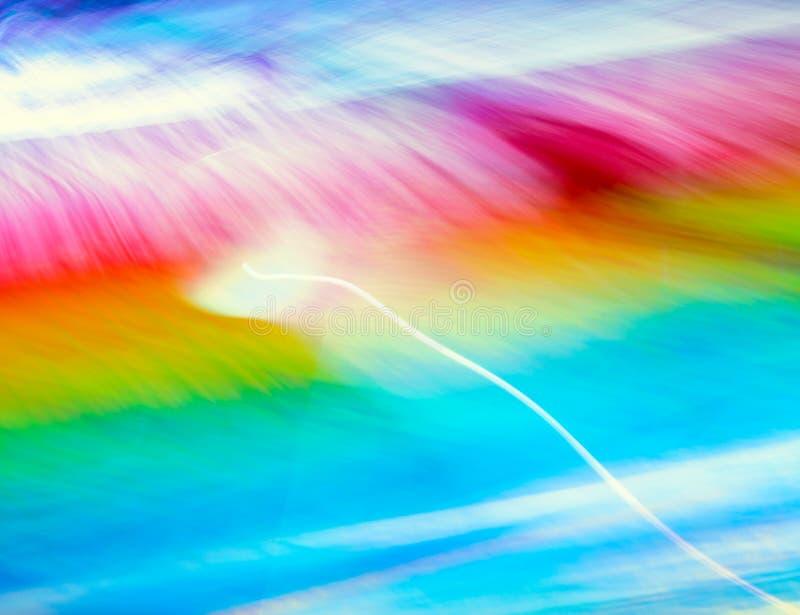 Luzes do borrão da onda do sumário da cor da meditação dentro imagem de stock