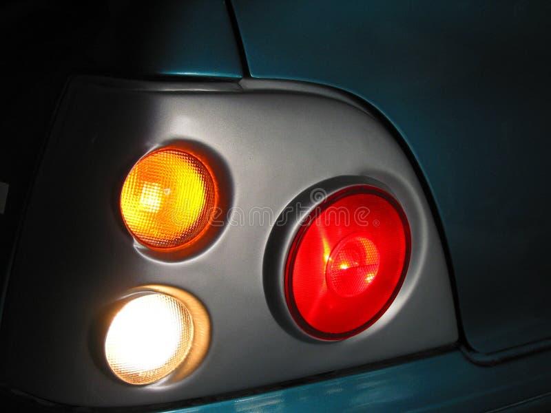 Luzes do carro e desenhador feito sob encomenda imagens de stock