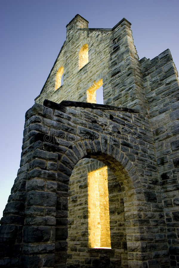 Luzes do castelo fotos de stock royalty free