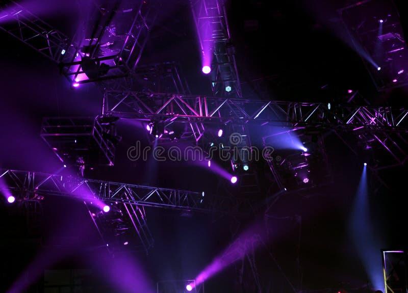 Luzes do concerto imagens de stock