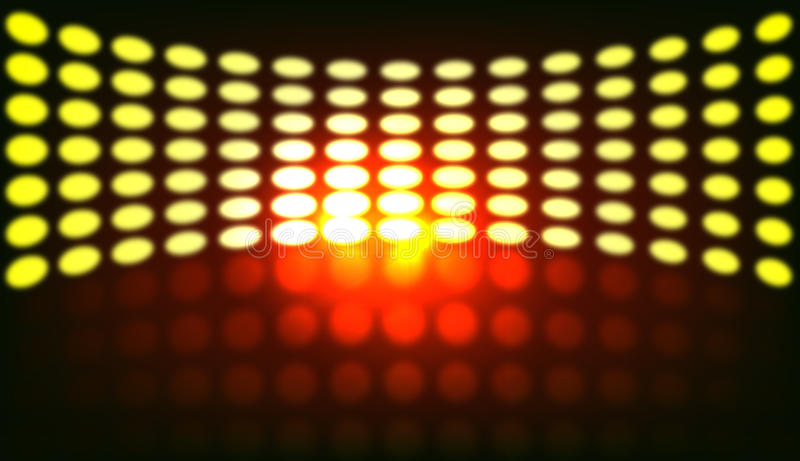 Luzes do disco ilustração stock