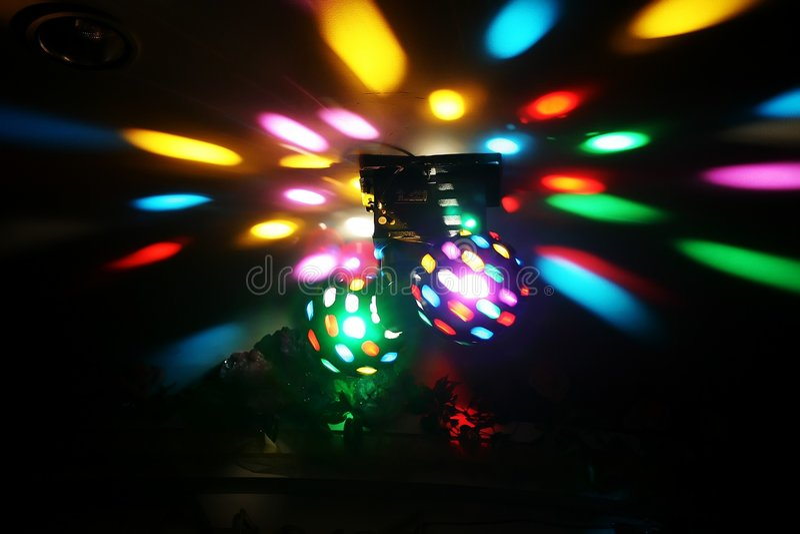 Luzes do disco foto de stock