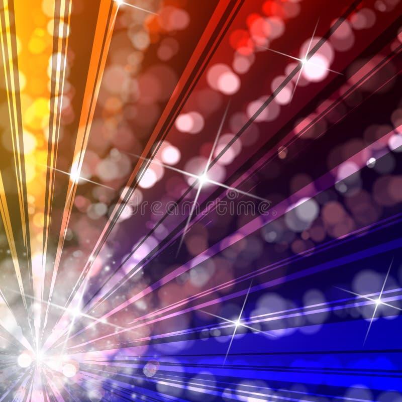 Luzes do disco do estouro da estrela ilustração do vetor