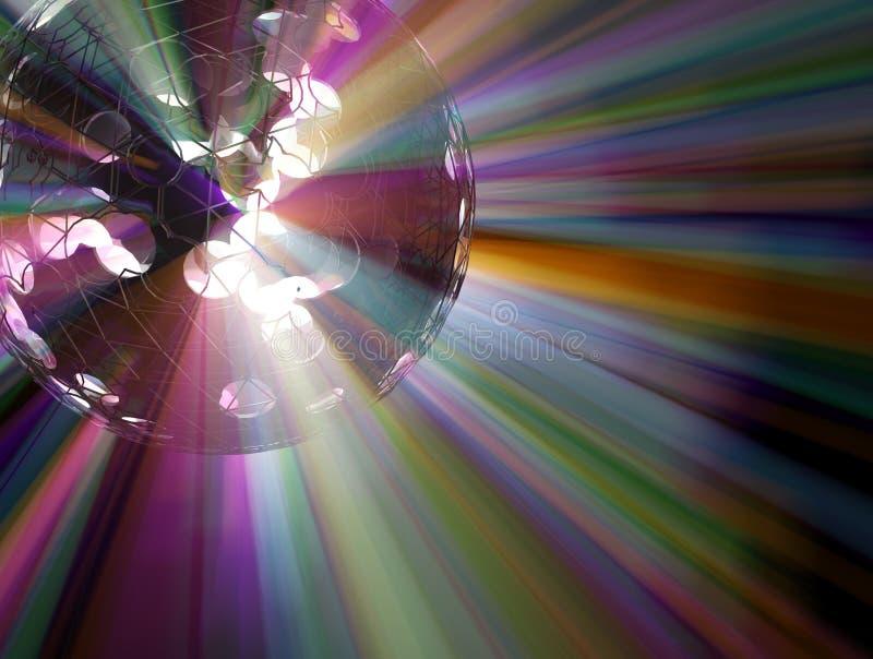 Luzes do espectro da esfera ilustração stock