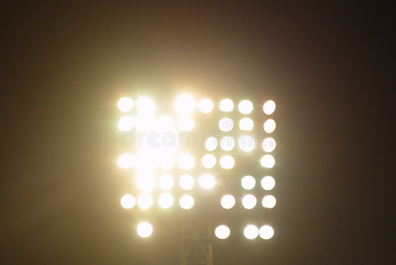 Luzes do estádio foto de stock royalty free