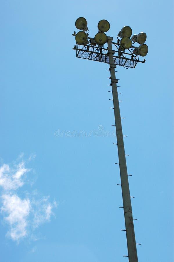 Luzes do estádio dos esportes foto de stock