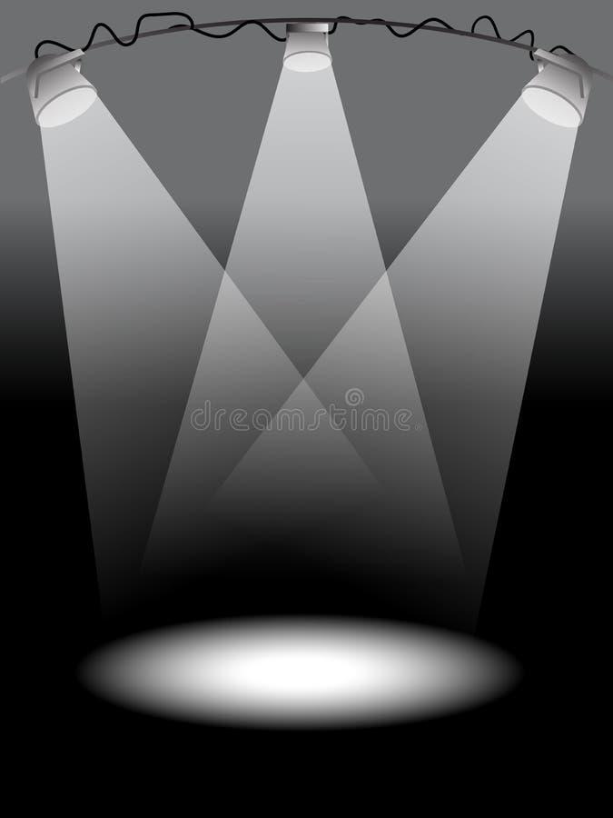 Luzes do estágio ilustração do vetor