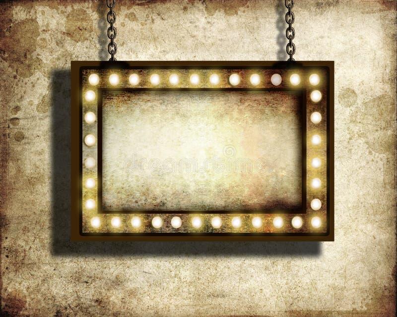 Luzes do famoso ilustração do vetor