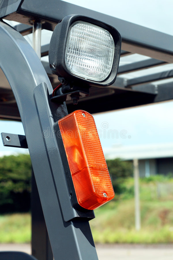 Luzes do Forklift fotos de stock royalty free