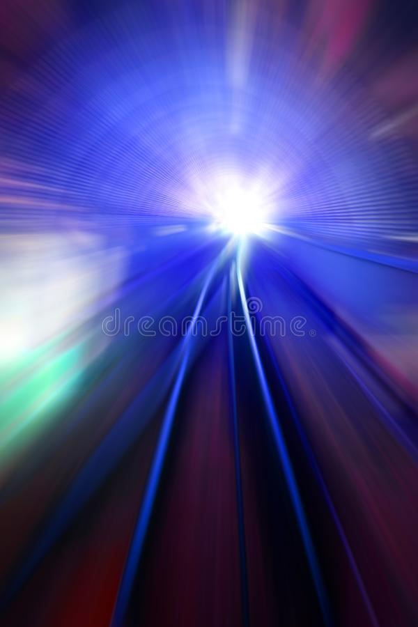Luzes do movimento da velocidade foto de stock