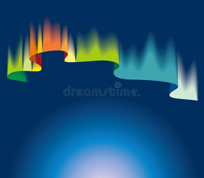 Luzes do norte ilustração do vetor