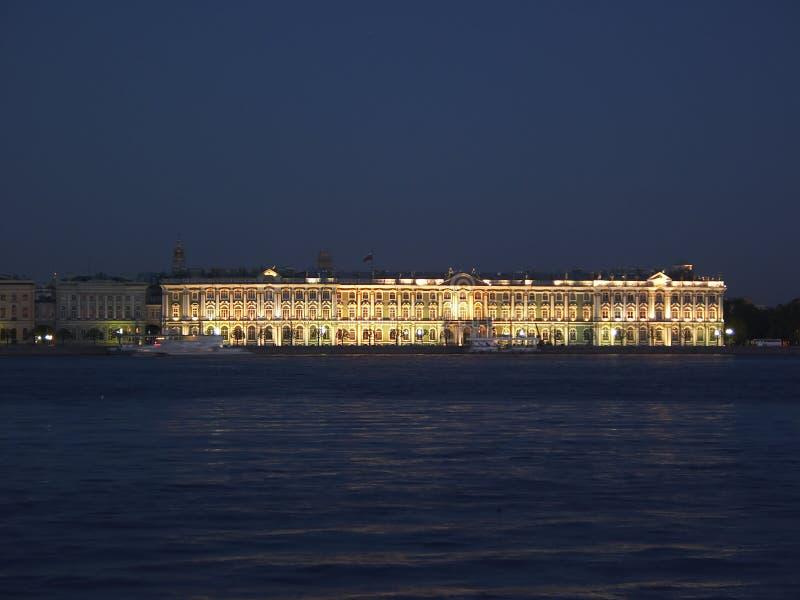 Luzes do palácio do inverno imagem de stock
