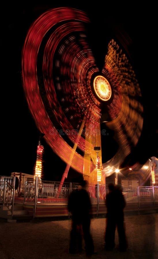 Luzes do parque de Amusment fotos de stock royalty free