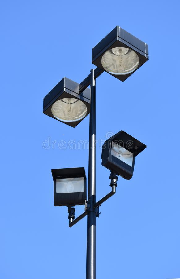 Luzes do parque de estacionamento imagem de stock